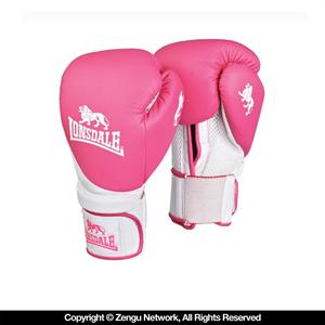Lonsdale Club Pink Training Gloves